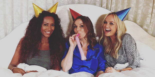 Spice Girls reunion 20 years on: Mel B (Scary Spice), Gerri Horner (Ginger Spice) and Emma Lee Bunton (Baby Spice). Photo / Instagram