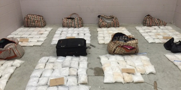 Nearly 500kg of methamphetamine was seized by Northland police earlier this year. Photo / Supplied.