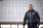 Australia coach Michael Cheika laughed off Steve Hansen's correct prediction of his side to face the All Blacks on Saturday night. Photo / NZ Herald.