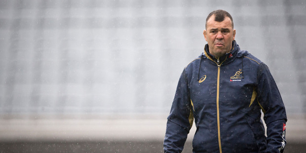 Loading Australia coach Michael Cheika laughed off Steve Hansen's correct prediction of his side to face the All Blacks on Saturday night. Photo / NZ Herald.