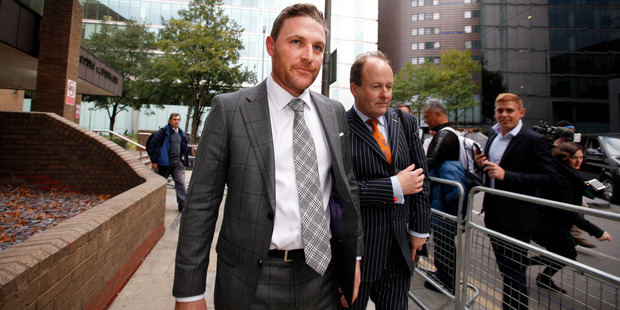Loading Brendon McCullum leaves court in London after giving evidence at the Chris Cairns trial. Photo / Chris Gorman