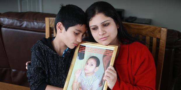Roshna Kandel and her son Saphal Singh at home in Papakura. Photo / Doug Sherring