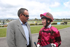 TOP CLASS: Former apprentice jockey Josh Oliver, pictured with local trainer Brian McKegg in 2014, has had great success in Australia. PHOTO/FILE
