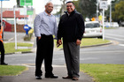 Chris Sio (left), with fellow Kiwi Daddys member Kelly Solomon, says the group regularly helps struggling men make contact with support services. Photo / George Novak