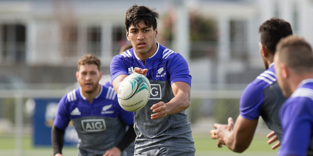 Blues wing-cum-midfielder Rieko Ioane is  in the frame for a call-up. Photo / Mark Mitchell
