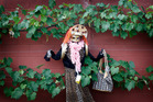 A scarecrow protects the grapevines in the Kitchen Garden at the Hamilton Gardens.