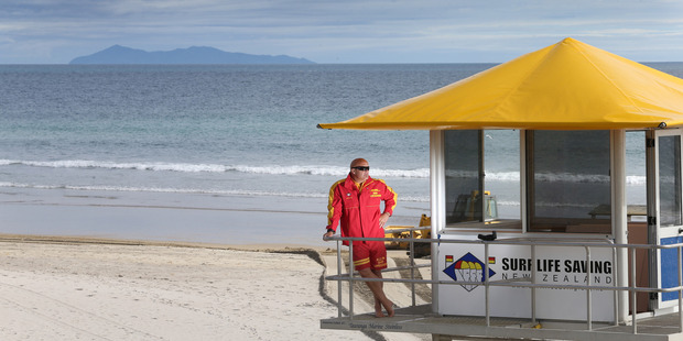 Mount Maunganui's Leigh Sefton keeping watch in the Bay. Photo/file