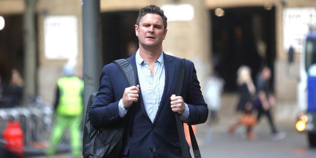 Chris Cairns at Southwark Crown Court. Photo / Chris Gorman