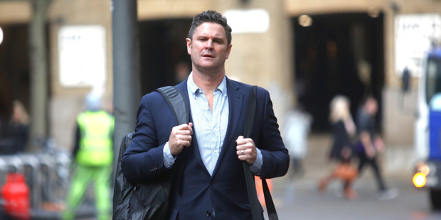 Loading Chris Cairns at Southwark Crown Court in his trial for perjury in London. Photo / Chris Gorman