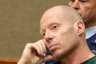 Russell John Tully during his trial at the High Court at Christchurch. Pool photo.