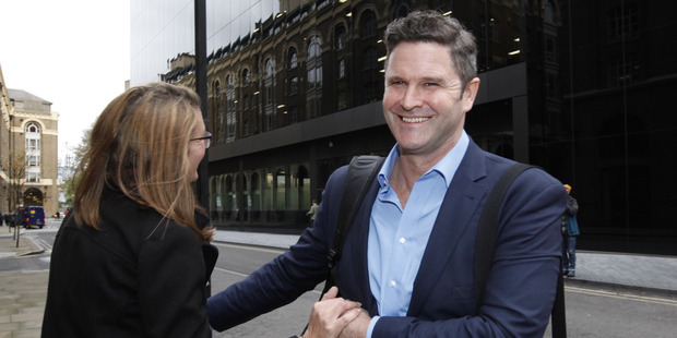 A smiling Chris Cairns after being found not guilty. Photo / Chris Gorman.
