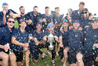DEFENDING CHAMPS: Bay of Plenty celebrate winning the Hawke Cup off Hawke's Bay in March. PHOTO/FILE