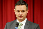 Green Party co-leader James Shaw appeared to announce a new policy on immigration. Photo / Hawkes Bay Today