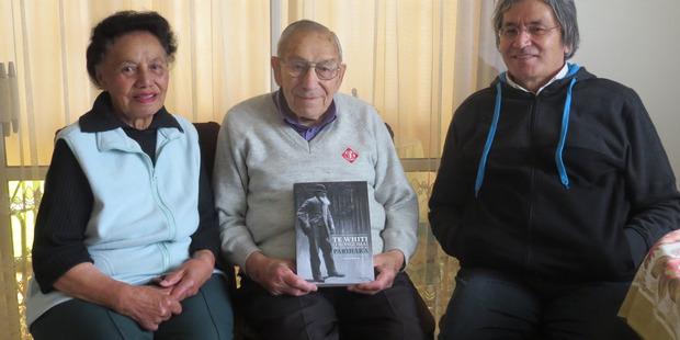 REMEMBERING PARIHAKA: The recollections of elders Ngaraiti and Rangikotuku Rukuwai contributed significantly to the award-winning book written by Dr Danny Keenan, right. PHOTO/ GAYLENE KENDRICK