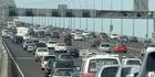Traffic on Auckland Harbour Bridge. PHOTO/Ross Setford