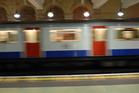 London Underground train, Gloucester Road Station, London.