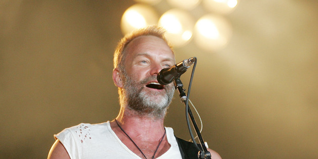 Singer Sting says he would be up for going on Carpool Karaoke. Photo / NZPA