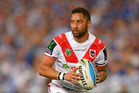 Benji Marshall during his most recent NRL season with the Dragons. Photo / Getty Images