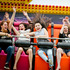 A hair-raising ride on the Scream Machine for Napier teenagers from left Dannielle Gallagher, Mikaylah Selby, Casey Goldsmith, and Rhiannon Voice