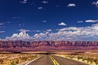 On the road approaching Vermillion Cliffs National Monument, en route from the Grand Canyon South Rim to the North Rim. Photo / Mark Meredith