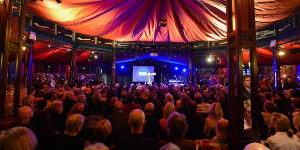 Full house: One of the many sold-out shows inside the Pacific Crystal Palace Spiegeltent at this year's Hawke's Bay Arts Festival. Photo/ Tim Whittaker.