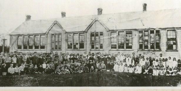 Marton School pupils assembled in 1900.