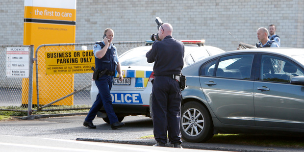 Police at the scene in Whangarei. Photo / NZME