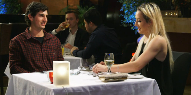 A scene from the TV series, First Dates New Zealand. Photo / Screengrab via TVNZ
