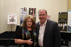 Northland health and fitness guru Carolyn Hansen with Powerteam International chief executive Bill Walsh at The Ultimate Wealth Camp workshop in Chicago. PHOTO/SUPPLIED