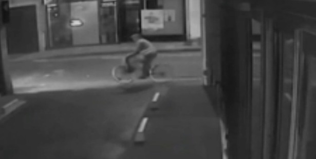 A scene from the CCTV footage.