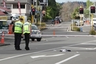 Police closed Sh4 in Whanganui so forensic could investigate the scene of a hit and run outside the Red Lion pub.