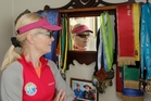 ALL FOR AIMEE: Mignon Stevenson with some of the memorabilia she has collected after two years of marathon running.