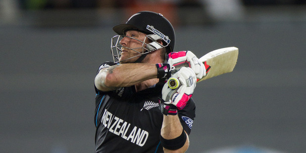 Brendon McCullum of New Zealand in action during the ICC Cricket World Cup semi-final match between New Zealand and South Africa. Photo / Jason Oxenham