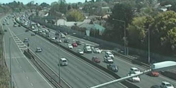 The NZ Transport Agency said the 11.30am  crash was delaying traffic on the Southern Motorway. Photo / NZTA