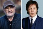 Phil Collins did not enjoy his meeting with Paul McCartney. Photos / AP, Supplied