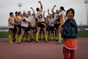 Cyprus players celebrate their record victory over Austria in the European Nations Cup. Photo / Getty