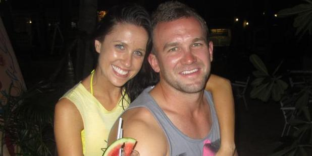 Nicole and her partner Jamie Keith in Thailand. Photo / Kate Fitzsimons
