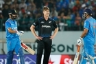 India scored 194-4 in 33.1 overs to chase down New Zealand's paltry 190 and win the first one-day international by six wickets. Virat Kohli scored an unbeaten 85, after debutant Hardik Pandya took 3-31, to help their side take a 1-0 lead in the five-match series. Source: Sky Sport