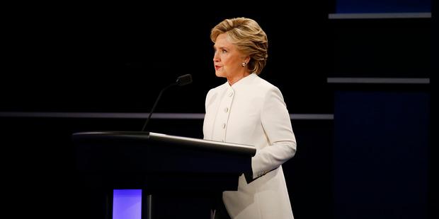 Hillary Clinton speaks during the third U.S. presidential debate in Las Vegas. Photo / Boomberg,  Daniel Acker