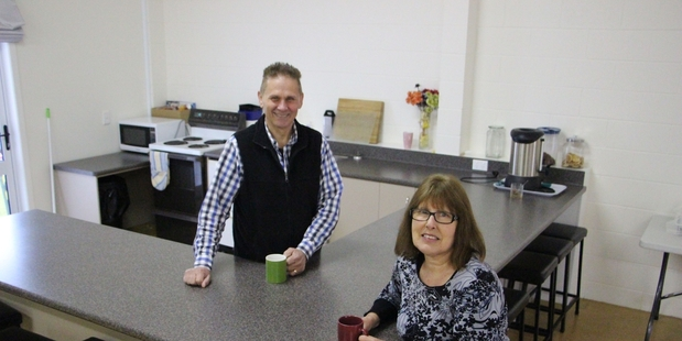 TIME FOR TEA: Bruce Mason and his wife Julie are two of the volunteers available to sit down for a cuppa and a chat with anyone who wants.