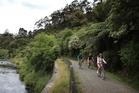 Riding through the Karangahake Gorge. Photo / Greg Bowker