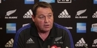 Watch: Watch: All Black's coach Steve Hansen on team confidence
