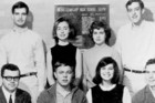 Hillary Rodham (back, second from left) with the Maine South High School debate team in 1965.