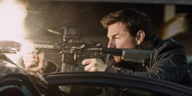 Scene from the film Jack Reacher: Never Go Back, starring Tom Cruise.