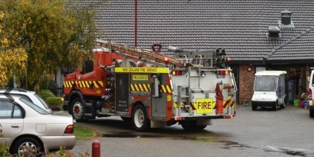 No-one was hurt in the lightning strike but firefighters expected serious wiring damage. Photo / Otago Daily Times