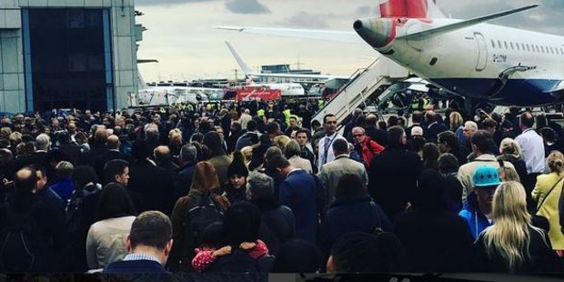 Hundreds of people were evacuated from the terminal. Photo: icicle_music/ Instagram