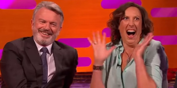 Miranda's reaction when Sam told her he'd love to be in Miranda if she brought it back. Photo / Youtube