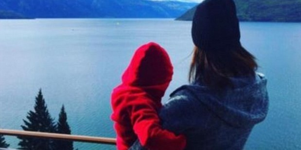 Megan Gale is holidaying with her son River, 2.