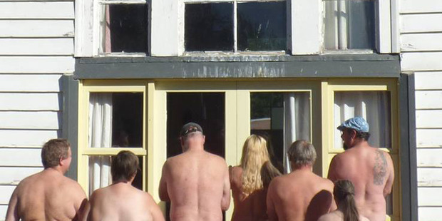 An image from the Southern Naturally Facebook page. A building at the nudist camp has been damaged by fire. Photo / Facebook