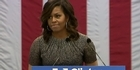 Watch: Watch: Michelle Obama reacts to Trump comments on election outcome